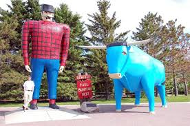 Paul, Babe the Blue Ox, and Little Friend